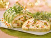Ziegenkäseroulade mit Lachs und Dill Rezept
